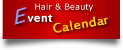 Hair and beauty event calendar