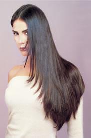 Brown hair extensions