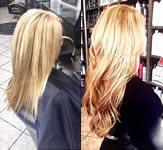 Ashley Grey Salon: Blonde light wave hair extension