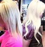 Ashley Grey Salon: Straight blonde extensions