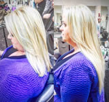 Ashley Grey Salon: Blonde straight hair
